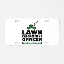 Lawn Enforcement Aluminum License Plate