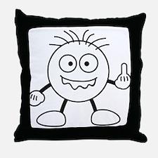 bad_finger Throw Pillow