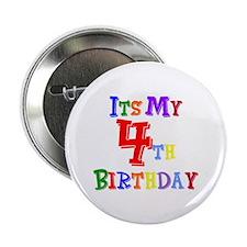 4th Birthday Button