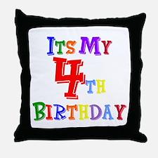 4th Birthday Throw Pillow