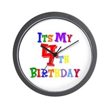 4th Birthday Wall Clock