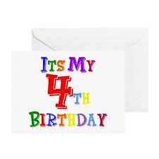 4th Birthday Greeting Cards (Pk of 10)