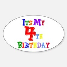 4th Birthday Oval Decal