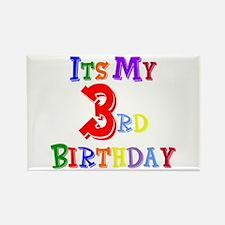 3rd Birthday Rectangle Magnet