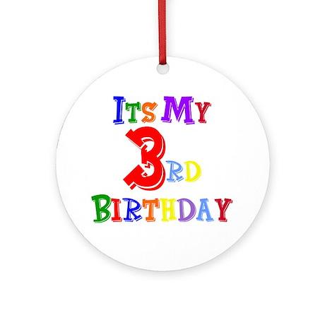 3rd Birthday Ornament (Round)