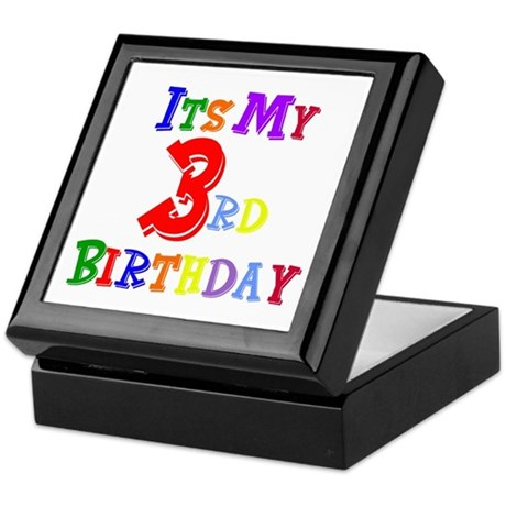 3rd Birthday Keepsake Box