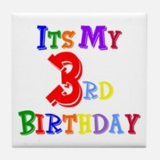 3rd Birthday Tile Coaster