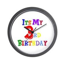 3rd Birthday Wall Clock
