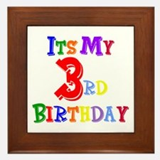 3rd Birthday Framed Tile