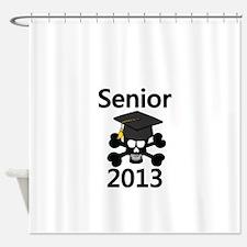 Senior 2013 Skull Shower Curtain