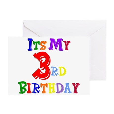 3rd Birthday Greeting Cards (Pk of 10)