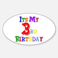 3rd Birthday Oval Decal