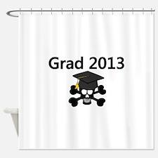 Grad 2013 Skull Shower Curtain