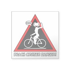 BEACH CRUISING danger triangle Sticker