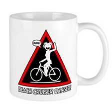 BEACH CRUISING danger triangle Small Mug