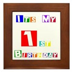 My 1st Birthday Framed Tile