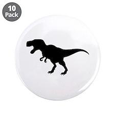 """Dinosaur T-Rex 3.5"""" Button (10 pack)"""
