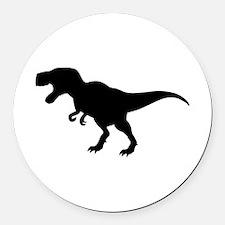Dinosaur T-Rex Round Car Magnet