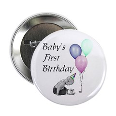 Baby's First Birthday Button