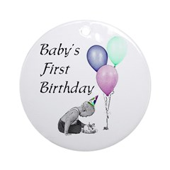 Baby's First Birthday Ornament (Round)