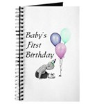Baby's First Birthday Journal