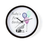 Baby's First Birthday Wall Clock