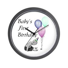 Baby's First Birthday Wall Clock