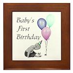 Baby's First Birthday Framed Tile