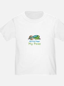 Organic Kids Yoga T-Shirt: My Pose (Child's Pose)