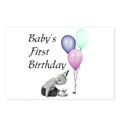 Baby's First Birthday Postcards (Package of 8)