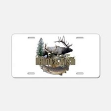 Hunt and Fish Aluminum License Plate