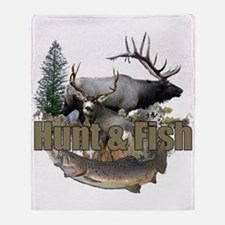 Hunt and Fish Throw Blanket