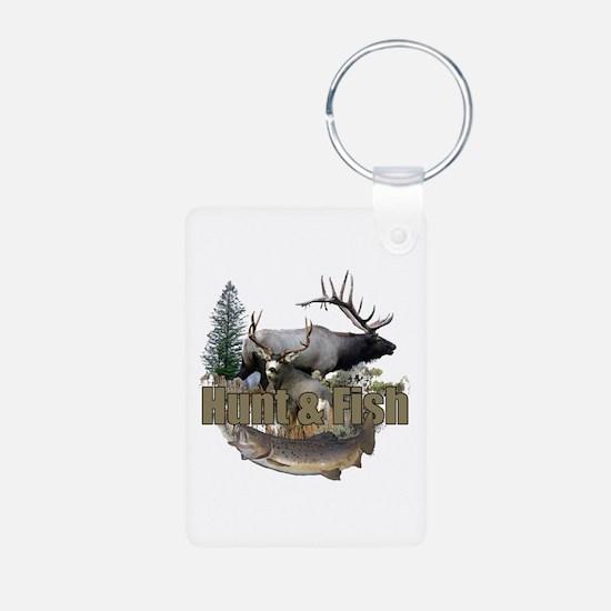 Hunt and Fish Aluminum Photo Keychain