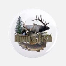 """Hunt and Fish 3.5"""" Button"""