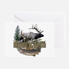 Hunt and Fish Greeting Card