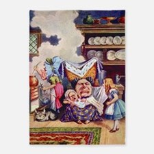 Alice in the Duchess' Kitchen 5'x7'Area Rug