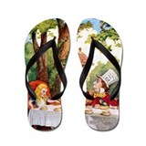 Mad hatters tea party Flip Flops
