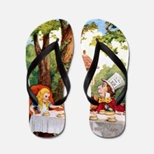 Mad Hatter's Tea Party Flip Flops