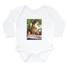 Mad Hatter's Tea Party Long Sleeve Infant Bodysuit