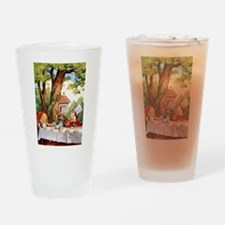 Mad Hatter's Tea Party Drinking Glass
