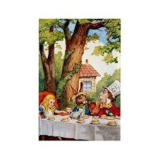 Mad Hatter's Tea Party Rectangle Magnet (10 pack)