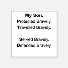 PTSD - My Son Protected Sticker