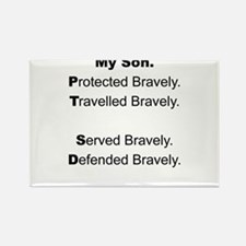 PTSD - My Son Protected Rectangle Magnet