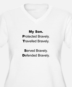 PTSD - My Son Protected Plus Size T-Shirt
