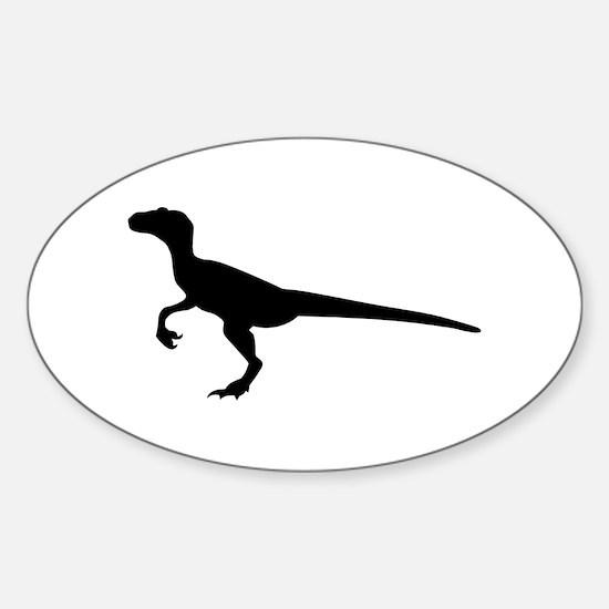 Dinosaur velociraptor Sticker (Oval)