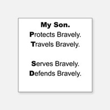 PTSD - My Son Protects Sticker