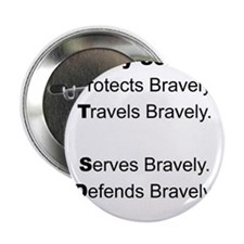 """PTSD - My Son Protects 2.25"""" Button"""
