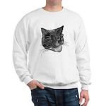 Grey and White Cat Sweatshirt