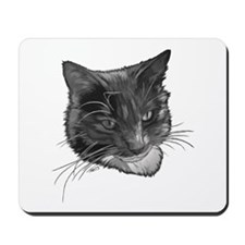 Grey and White Cat Mousepad