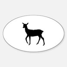 Black deer Decal